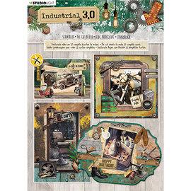 Studio Light Stanseblokk, A4, 170 g / min, 12 sider, Industrial 3.0 nr.89