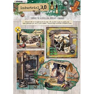 Studio Light Stanzblock, A4, 170 gsm, 12 Seite, Industrial 3.0 nr.89