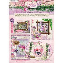 Studio Light Stanseblokk, A4, 170gsm, 12 sider, engelsk hage nr.90
