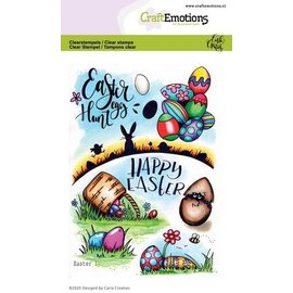 Craftemotions Motif stamp, A6, Easter basket, Easter eggs