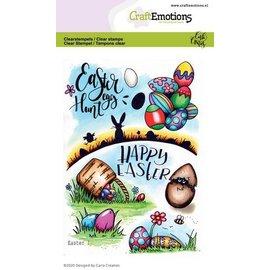 Craftemotions Sello de motivo, A6, canasta de Pascua, huevos de Pascua