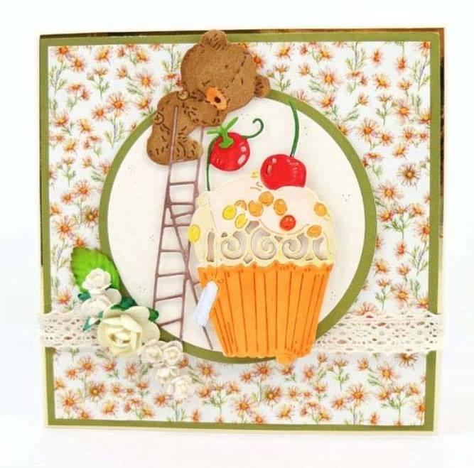 soooo ein niedliches Bärchen mit Cupcake !