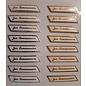 STICKER / AUTOCOLLANT 3D sticker met metallic effect, voor communie in een keuze: in goud of zilver