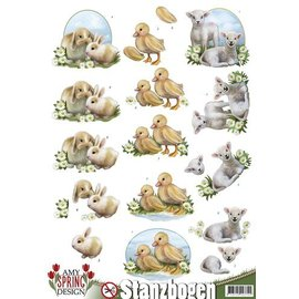 Bilder, 3D Bilder und ausgestanzte Teile usw... Die losse vellen: konijntjes, schapen en kuikens