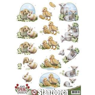 Bilder, 3D Bilder und ausgestanzte Teile usw... Die cut sheets: bunnies, sheep and chicks