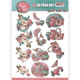 Bilder, 3D Bilder und ausgestanzte Teile usw... Stanzbogen mit hübsche Motiven, zur gestaltung auf Karten, Alben, Kollage u.v.m.
