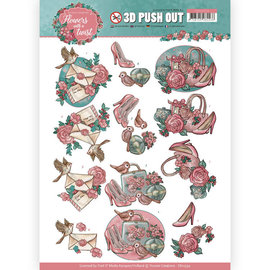 Yvonne Creations Die cut sheet with pretty motifs, for design on cards, albums, collages and much more