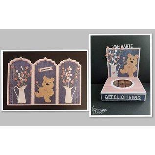 Marianne Design Stanzschablonen, Blumenkrug mit Blumen