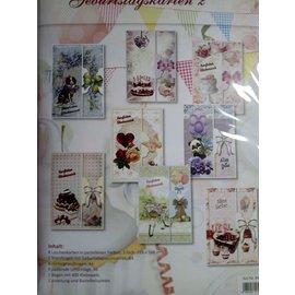 BASTELSETS / CRAFT KITS Set di carte di compleanno e altre occasioni, per 8 carte!