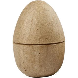 Holz, MDF, Pappe, Objekten zum Dekorieren 1 Zweiteiliges Ei, H 12 cm, D: 9 cm