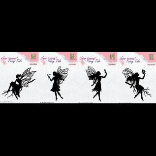 Nellie Snellen Nellie Snellen, transparante stempel, 4 feeën om uit te kiezen