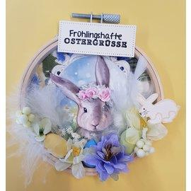 Bilder, 3D Bilder und ausgestanzte Teile usw... Foglio tranciato 3D, con 3 simpatici motivi, Pasqua, primavera!