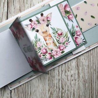 Karten und Scrapbooking Papier, Papier blöcke NIEUW! Papierblok, wild & prachtig, 36 vellen, 6x6 ontwerpen, 20 x 20 cm, 160/300 gsm en 32 toppers gestanst!