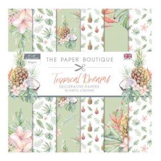 Karten und Scrapbooking Papier, Papier blöcke NIEUW! Papierblok, Tropical Dreams, 36 vellen, 6x6 ontwerpen, 20 x 20 cm, 160/300 gsm + 32 toppers (uitgestanst)!