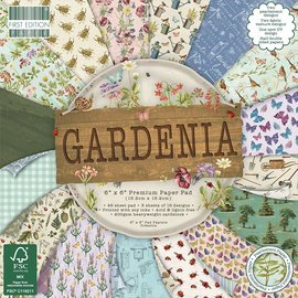 Karten und Scrapbooking Papier, Papier blöcke Bloque de papel para tarjetas y álbumes de recortes, 15,5 x 15,5 cm, gardenia