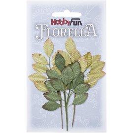 Stamperia und Florella 3 Zweige aus Maulbeer-Papier, ca. 10cm.