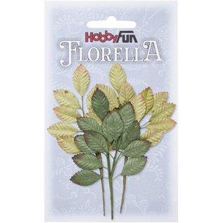 Stamperia und Florella 3 grene af morbærpapir, ca. 10 cm.