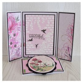 Crafter's Companion Crafter's Companion, Fairy Garden, 3D Embossing Folder: Nature Garden