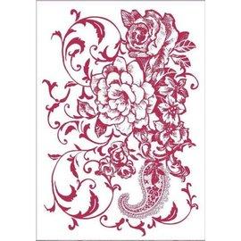 Stamperia und Florella Kunstskabelon, fleksibel, gennemsigtig, 21 x 29,7 cm, blomster