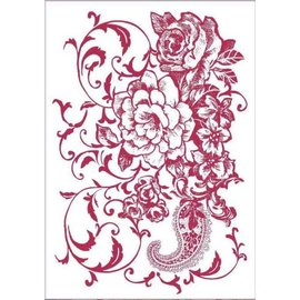 Stamperia und Florella Plantilla de arte, flexible, transparente, 21 x 29,7 cm, flores