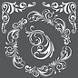 Stamperia und Florella Art stencil, Stamperia, 18x18cm, 0,25 mm dik, Decoraties & hoeken