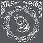 Stamperia und Florella Kunststencil, Stamperia, 18x18 cm, 0,25 mm tyk, Dekorationer & hjørner
