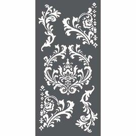 Stamperia und Florella Pochoir d'art, Stamperia, 12x25cm, 0,25 mm d'épaisseur, décorations et coins -