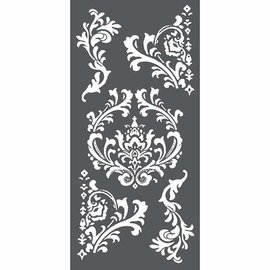 Stamperia und Florella Stencil d'arte, Stamperia, 12x25 cm, spessore 0,25 mm, Decorazioni e angoli -