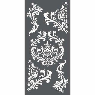 Stamperia und Florella  Kunstschablone, Stamperia, 12x25cm, 0.25mm dick, Decorations & Corners