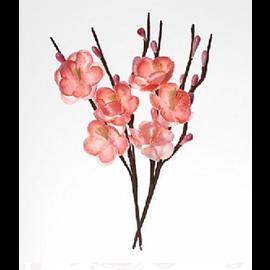 Embellishments / Verzierungen Dekorative Blumen, aus Stoff, Bluten 2,5cm Zweige 11 cm