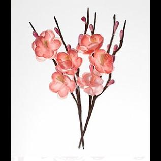 Embellishments / Verzierungen Decoratieve bloemen, gemaakt van stof, bloeden 2,5 cm takken 11 cm