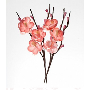 Embellishments / Verzierungen Decorative flowers, made of fabric, bleeding 2.5cm branches 11cm