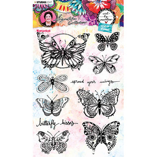 Studio Light stempel SET met 8 vlinders