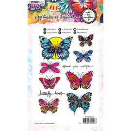 Studio Light Juego de sellos con motivos con 8 mariposas