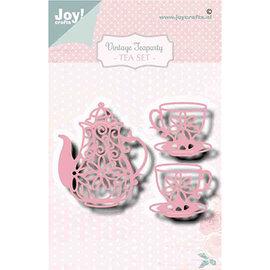 Joy!Crafts / Jeanine´s Art, Hobby Solutions Dies /  Stanzschablonen: Teekanne und 2 Tasse, Vintage teaparty