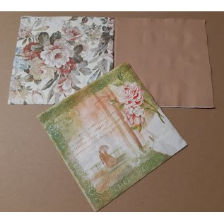 DECOUPAGE AND ACCESSOIRES 6 designer napkins, decoupage