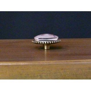LaBlanche Metalen knop met glazen cabochon - groot, 2 verschillende om uit te kiezen