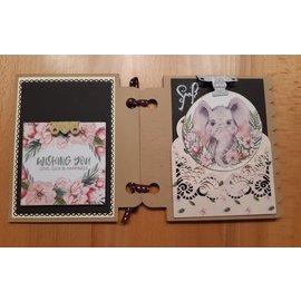 Karten und Scrapbooking Papier, Papier blöcke NY! Papirblokk, wild & Wonderfull, 36 ark, 6x6 design, 20 x 20 cm, 160/300 gsm og 32 toppers die-cut!