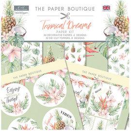 Karten und Scrapbooking Papier, Papier blöcke NEW! Paper block, Tropical Dreams, 36 sheets, 6x6 designs, 20 x 20 cm, 160/300 gsm + 32 toppers (punched out)!