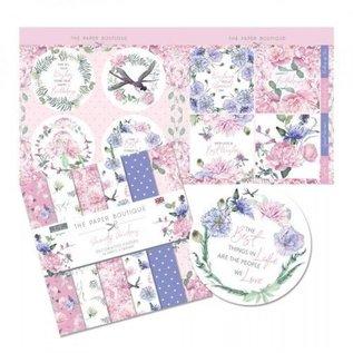 Karten und Scrapbooking Papier, Papier blöcke NUOVO! Blocco di carta, Serenity Garden, 36 fogli, disegni 6x6, 20 x 20 cm, 160/300 gsm + 32 toppers!