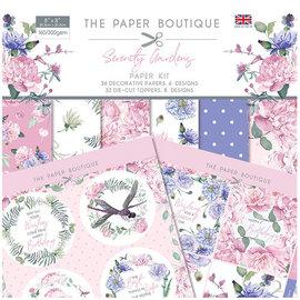 Karten und Scrapbooking Papier, Papier blöcke NUEVO! Bloque de papel, Serenity Garden, 36 hojas, diseños 6x6, 20 x 20 cm, 160/300 gsm + 32 adornos.