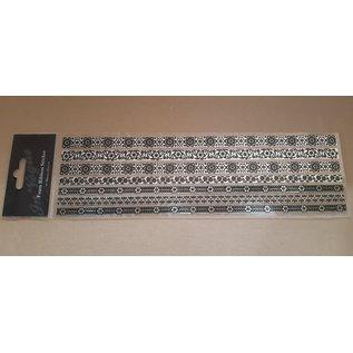 STICKER / AUTOCOLLANT 5 stickers miroir, avec motifs velours noir, bordures
