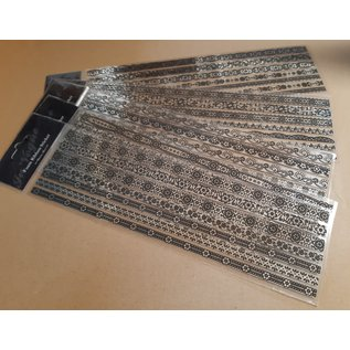 STICKER / AUTOCOLLANT 5 mirror stickers, with black velvet motifs, borders