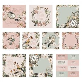 Karten und Scrapbooking Papier, Papier blöcke NUOVO! Blocco di carta, romanticismo steampunk, 80 fogli, 13 x 13 cm, 160 gsm