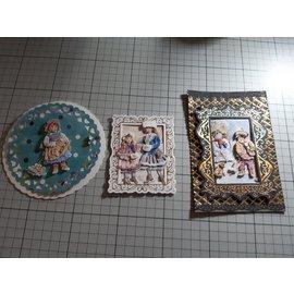 """Bilder, 3D Bilder und ausgestanzte Teile usw... 3D die cut: Christine Haworth Designs, """"Faerie Poppets, Engel"""", 3 motifs"""
