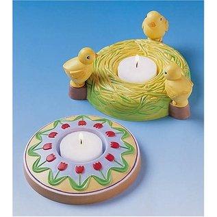 Modellieren Giessform, 2 Oster Kerzenständer, Durchmesser : 10,5 cm