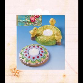 Modellieren Moule à couler, 2 bougeoirs de Pâques, diamètre: 10,5 cm