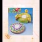 Modellieren Casting mold, 2 Easter candlesticks, diameter: 10.5 cm