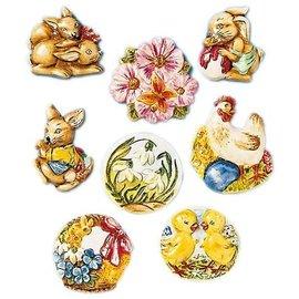 Modellieren Moule à couler, motifs de Pâques, 8 motifs, chacun 4 x 5 cm