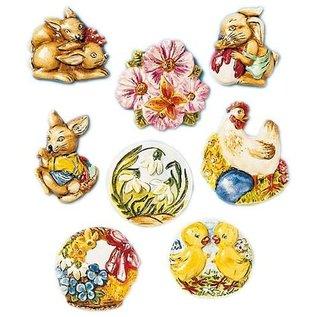 Modellieren Molde de fundición, motivos de Pascua, 8 motivos, cada uno de 4 x 5 cm